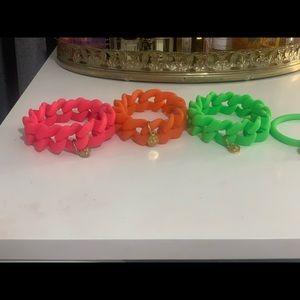 Marc Jacobs rubber bracelet gold charm chunky